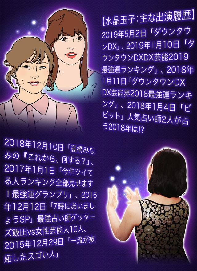 【水晶玉子:主な出演履歴】